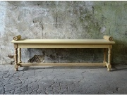 Wooden Garden Bench - Hall Bench with Roll Ends