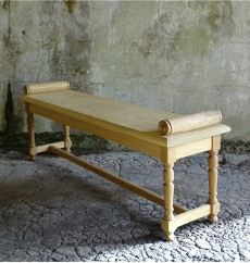 Interior Wooden Furniture - Hall Bench with Roll Ends