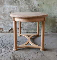 Interior Wooden Table - Oval Table with Pad Feet