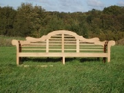 Oak / Iroko Garden Furniture - Large Seat, Lutyens style