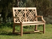 Oak / Iroko Garden Furniture - 2 Seater Seat, The Pavilion Style