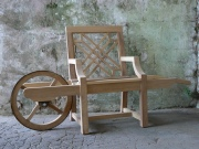 Unusual Wooden Garden Furniture - Wheelbarrow Chair, The Pavilion style