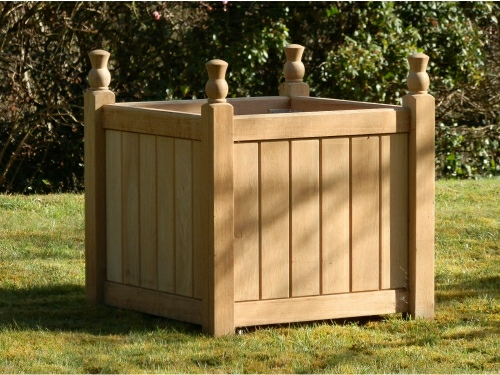 Wooden Planters - Versailles Box Style with Thistle Finials