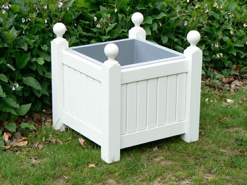 Wooden Planters - Versailles Box Style painted White