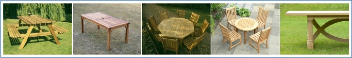 Wooden Dining Tables - round, square, rectangular, refectory, barbecue, circular, octagonal tables