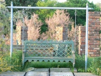 Wooden Swing Seat - Indian Lattice Style