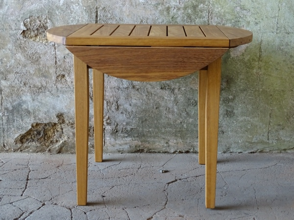 Wooden Garden Table - Drop Leaf ( Four Flap ) Table, Lotus Chairs & Square Stool