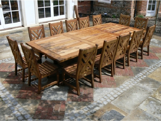 Refectory Table - Hadham Style, and Chinoiserie Heavy Back chairs