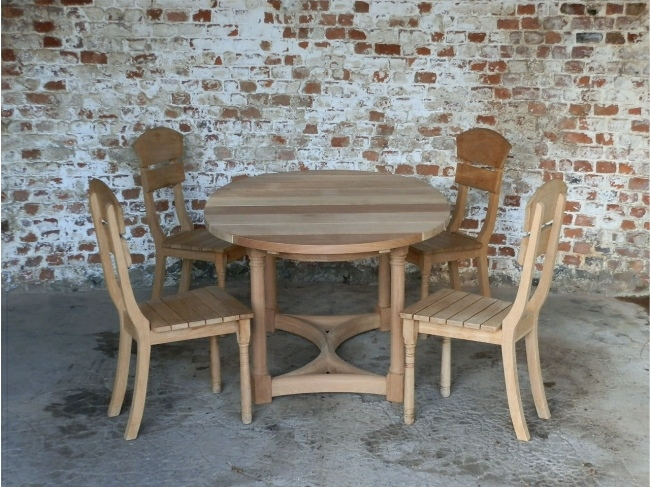 Garden Wooden Table - Oval Refectory Style