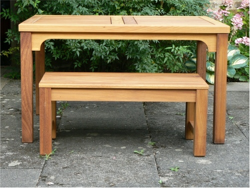 Rectangular Table - Hadham High Style, and a Bespoke Backless Bench