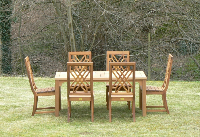 Garden Table and Chairs - Rectangular Wooden Table and The Pavilion Chairs