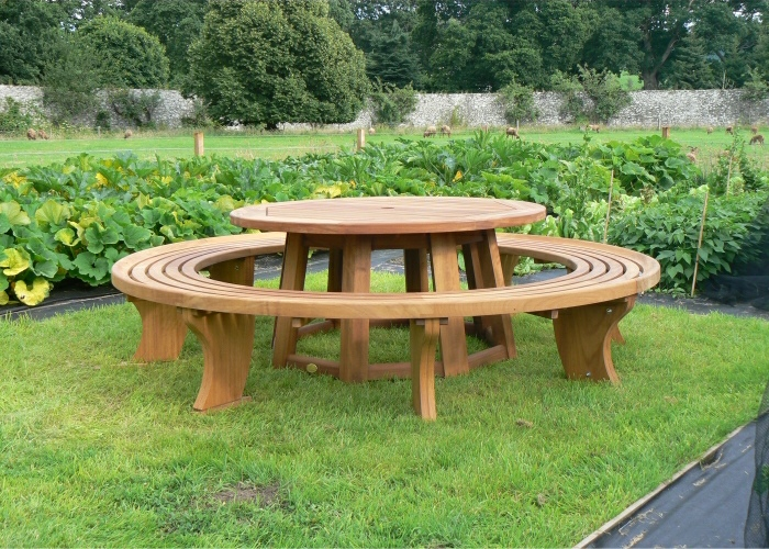 Circular Table and Bench