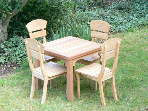 Square Table - Hadham Style 80 x 90 cms, and Lotus chairs