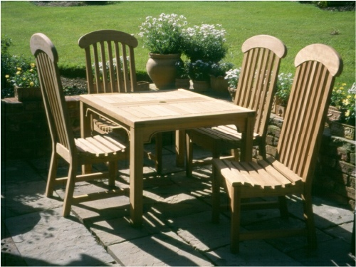 Square Table - Hadham Style 80 x 80 cms, and Windsor chairs