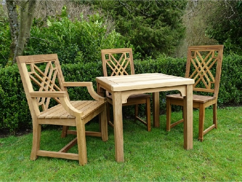Square Table - Hadham Style, and the Pavilion chairs