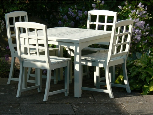 Square Table - Bespoke 90 x 90 cms, and Dior chairs