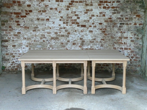 Combination Table - 1 Square & 1 Rectangular tables combined