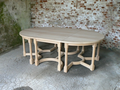 Combination Table - 2 Half Circles & 1 Rectangular tables combined