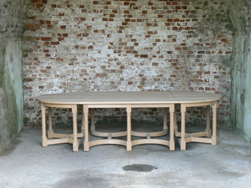Combination Table - 1 Square & 2 Half Circle tables combined