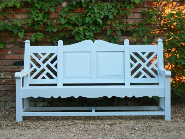 Three Seater Garden Seat - Carlton Style, painted Parma Grey