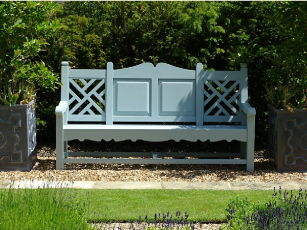Three Seater Garden Seat - Carlton Style, painted White