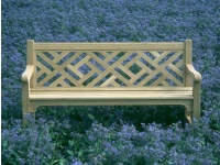 Three Seater Garden Seat - Chinoiserie Heavy Back Style