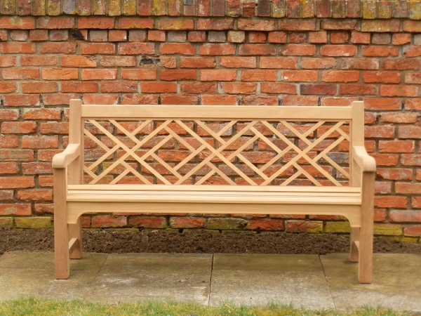 Three Seater Garden Seat - Chinoiserie Style