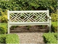 Garden Three Seater Seat - Chinoiserie Style