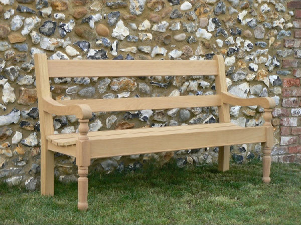 Three Seater Garden Seat - Estate with Turned Legs Style