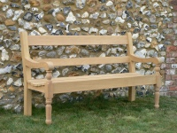 Garden Three Seater Seat - Estate Turned Legs Style
