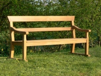 Three Seater Garden Seat - Park Style with double back rails on Skids