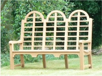 Three Seater Garden Seat - Highbacked Edo Style