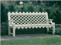 Garden Three Seater Seat - Indian Lattice Style