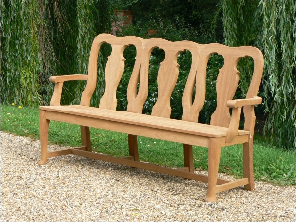 Three Seater Garden Seat - Queen Anne Style