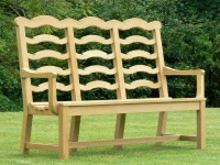 Three Seater Garden Seat - Ladderback Style