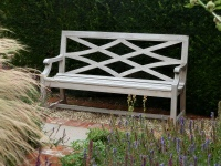 Three Seater Garden Seat - Charles Over Single Panel Style