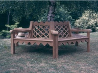 Indian Lattice Tree Seat
