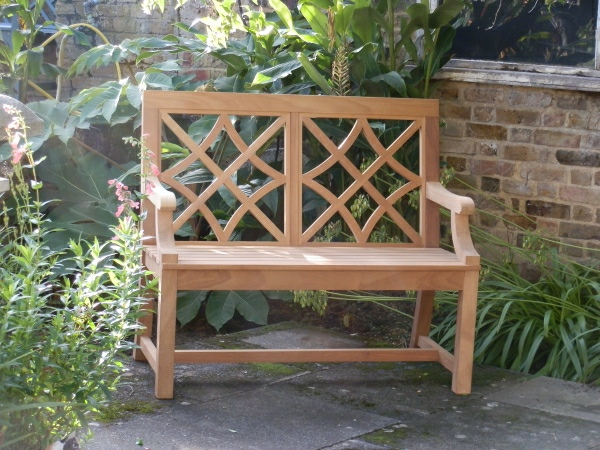 Two Seater Garden Seat - Charles Over 2 Panels Style
