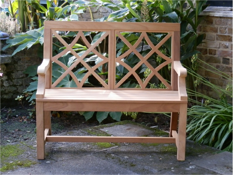 Two Seater Garden Seat - Charles Over (2 panels) Style