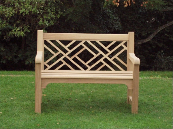 Two Seater Garden Seat - Chinoiserie Style