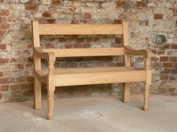 Two Seater Garden Seat - Estate with Turned Legs Style