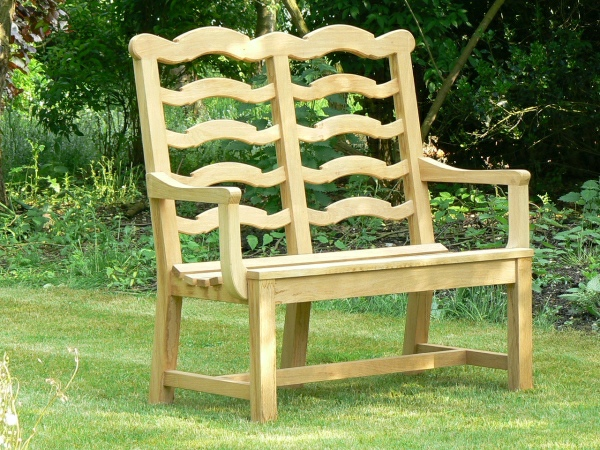 Two Seater Garden Seat - Ladderback Style
