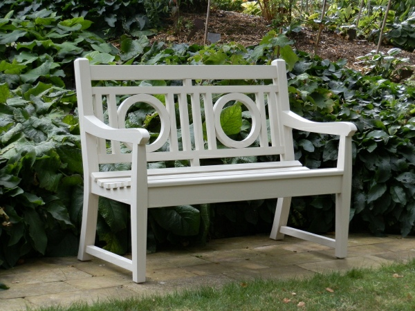 Two Seater Garden Seat - Leagrave Style painted Old White
