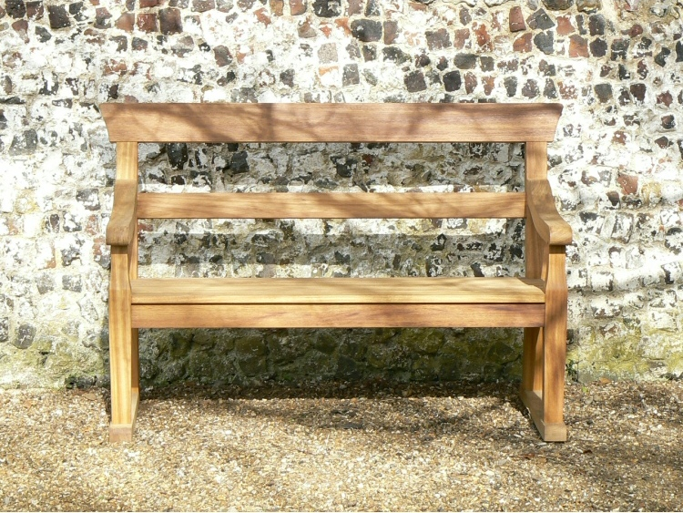 Two Seater Garden Seat - Park Style, with double back rails