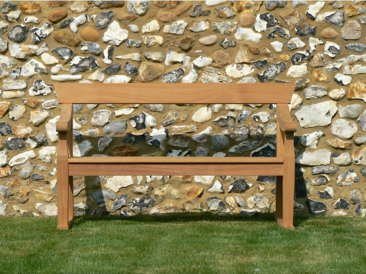 Two Seater Garden Seat - Park Style, with Single back rails