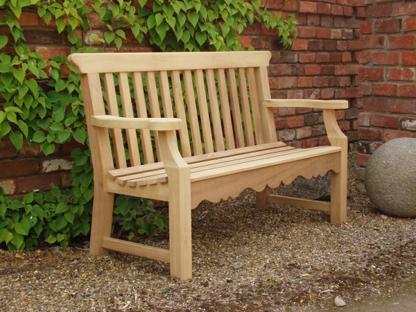 Two Seater Garden Seat - Peacock Style