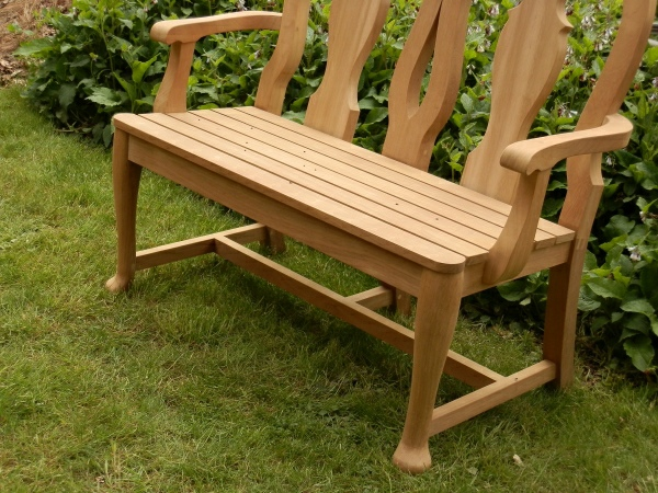 Two Seater Garden Seat - Queen Anne Style
