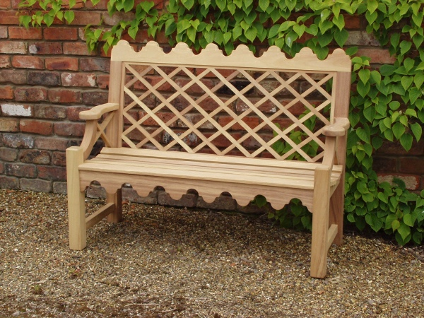 Two Seater Garden Seat - Indian Lattice Style