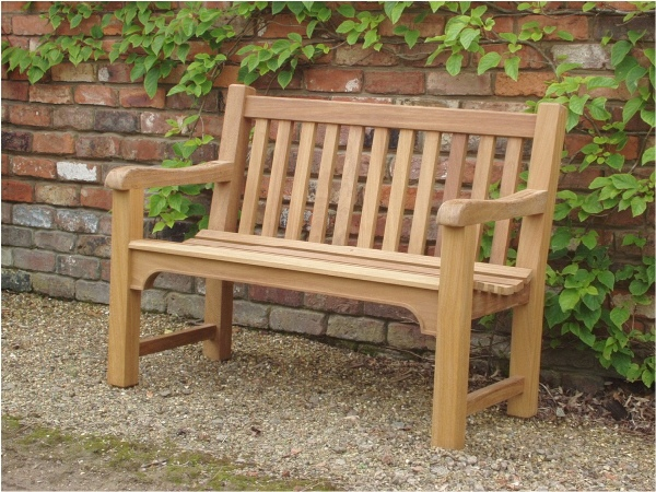 Two Seater Garden Seat - Slatted Style