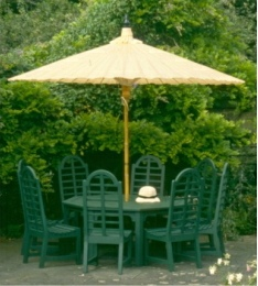 Large round umbrellas for gardens, 3 metre diametre